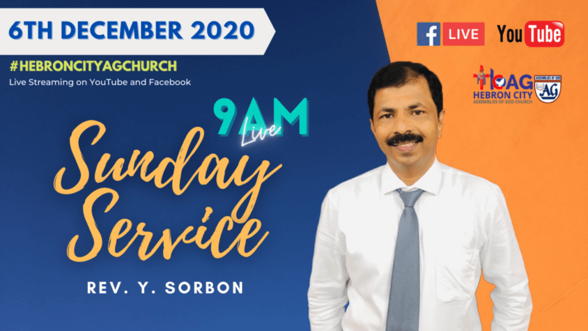 6th December 2020 | Sunday Service Sermon | The God of Hope... நம்பிக்கையின் தேவன் | Rev Y Sorbon.